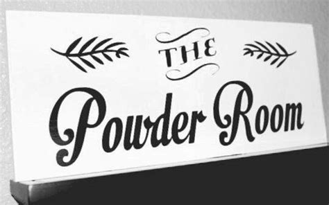 powder room signs for bathroom the powder room powder room sign bathroom sign wooden