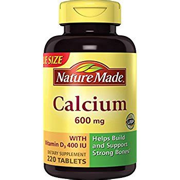 Healthy Care Calsium 400 Capsule nature made calcium carbonate 600 mg w d3 400 iu tablets mega size 220 ct health