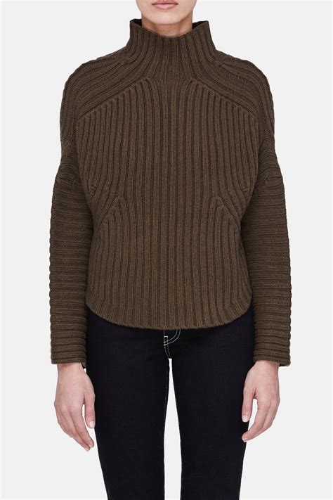 Sweter Army cropped army sweater army the line