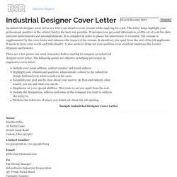 industrial design cover letter 3000 web pearltrees