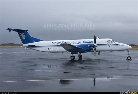 a6 fcd falcon express cargo airlines beechcraft 1900c airliner at prestwick photo id 266085