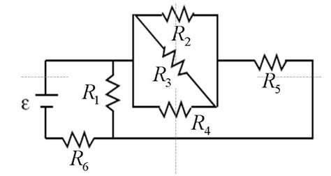 resistors diagonal circuit the figure shows a collection of resistors with r chegg