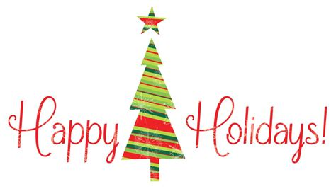 happy holidays christmas tree clipart
