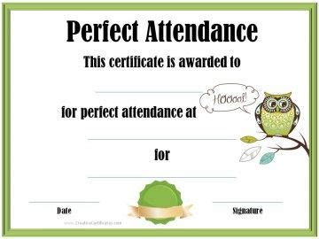 100 attendance certificate template printable doc file attendance certificate