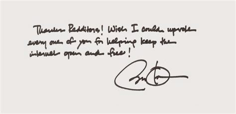 Thank You Letter For Reddit President Obama Thanks Reddit In A Handwritten Note For Helping Save The As We It
