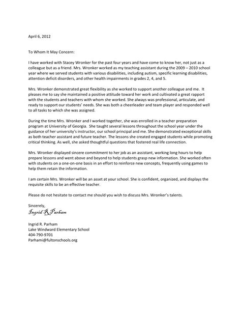 sample recommendation letter for coworker 6 examples in word pdf