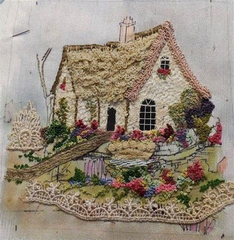 house embroidery pattern embroidered house embroidery pinterest