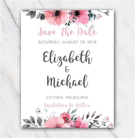 save the date powerpoint template save the date wedding save the date template for word pink flowers