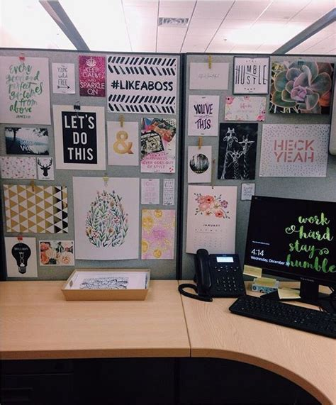Office Desk Decor Ideas 25 Best Cubicle Ideas On Cube Decor Decorating Work Cubicle And Chic Cubicle Decor