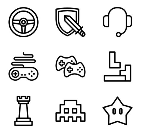 design elements vector png gamer icons 2 748 free vector icons