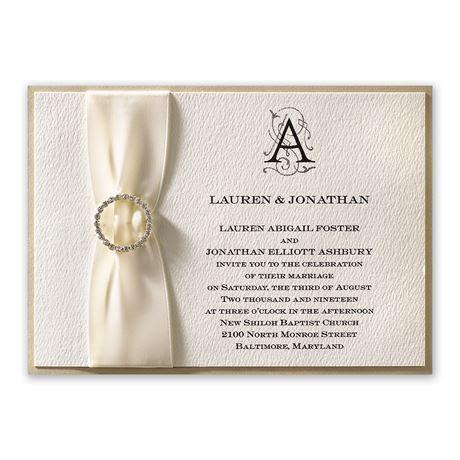 luxe details horizontal invitation invitations  dawn