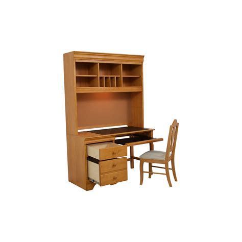 wood desk and hutch stanley furniture computer desk best home design 2018
