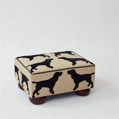 Small Footstool Eaton Spaniel Small Footstool By The Labrador Company