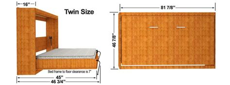 Murphy Chest Bed Twin Size 17 Best Ideas About Horizontal Murphy Bed On Pinterest