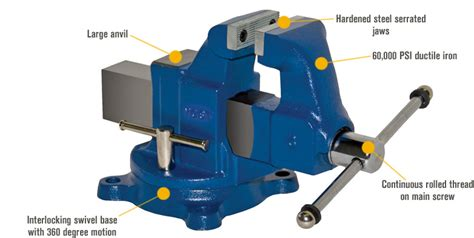 parts of bench vice yost heavy duty industrial machinist bench vise swivel