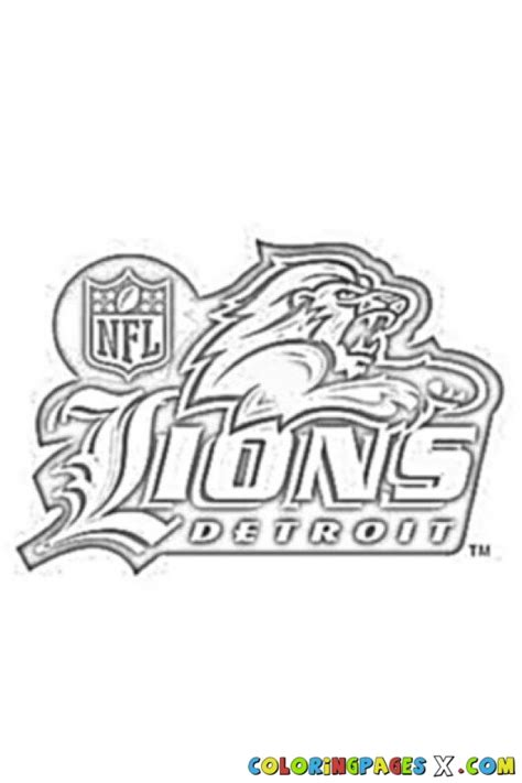 coloring pages detroit lions free nfl lions coloring pages