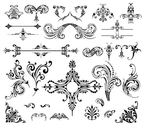 vintage ornament vector pattern roundup of free vintage ornament floral vectors