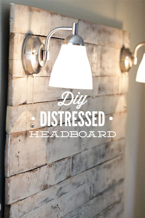 distressed wood headboard diy how to make a diy distressed headboard live simply