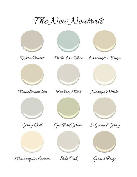 neutral colors list benjamin moore the new neutrals kristin ashley interiors