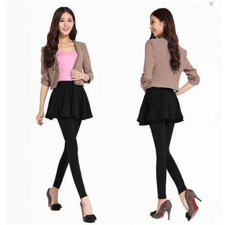 Skirt Legging Black plus winter warm womens winter clothes