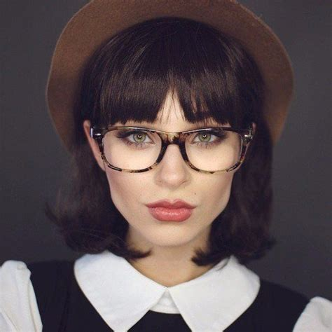 Medium Hairstyles With Bangs And Glasses by Top 30 Hairstyles With Bangs And Glasses The