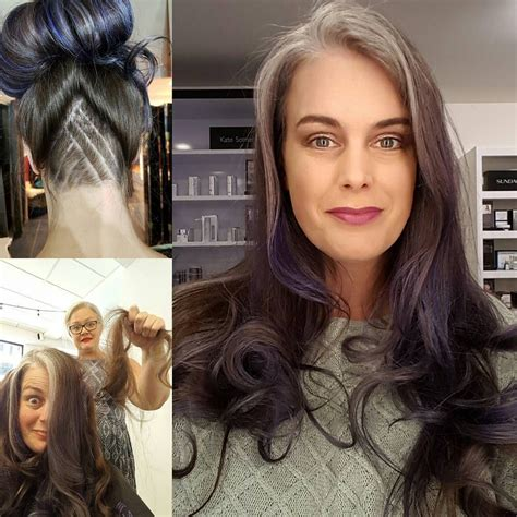 pictures transition dark hair to grey on pintrest grey is the new blonde transitioning to gray hair grey