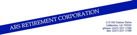 ars retirement corporation home page