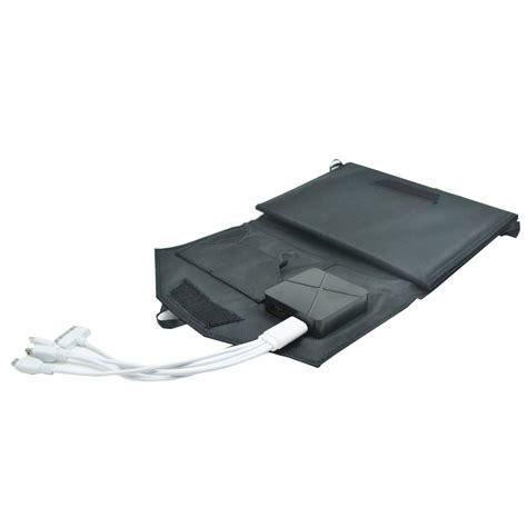 Foldable Solar With 2 Solar Panel Black foldable solar power bank 2 usb port with 3 solar panel s12e black jakartanotebook