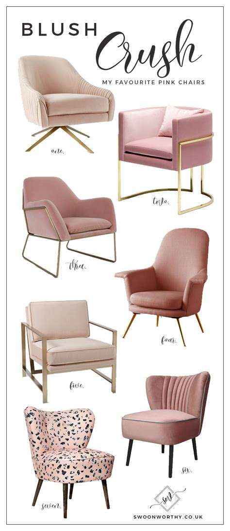 light pink office chair blush crush my favourite blush pink chairs swoon worthy