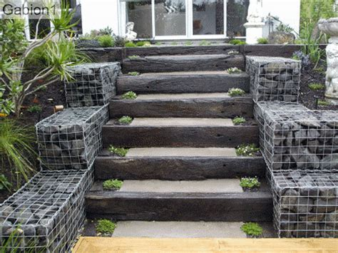 Walkout Basement Design gabion staircase gabion1 uk