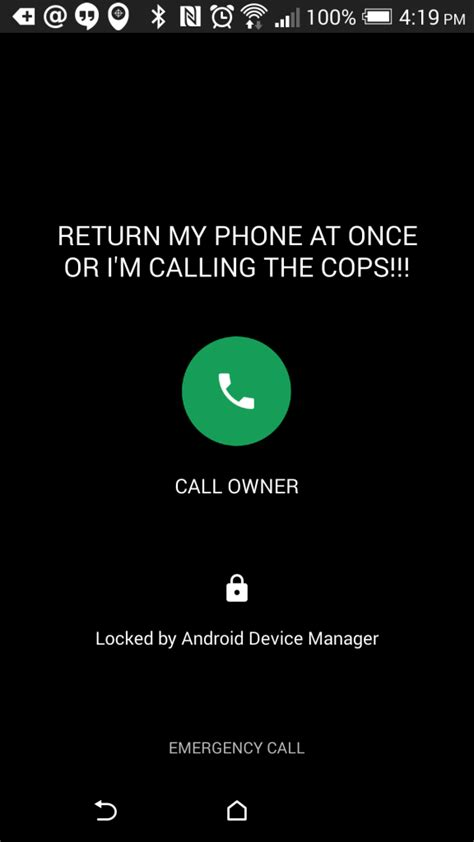 what is android device manager android device manager adds call back button on the lockscreen