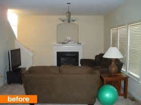 before after a beige boring living room goes bright