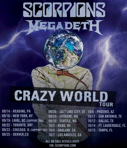 scorpions tickets scorpions concert tickets tour dates image result for scorpions megadeth tour photos