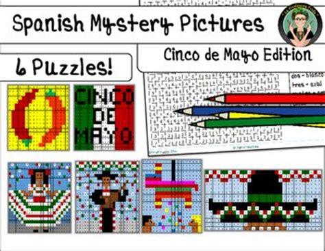 cinco de mayo colors cinco de mayo mystery pictures color by number grid