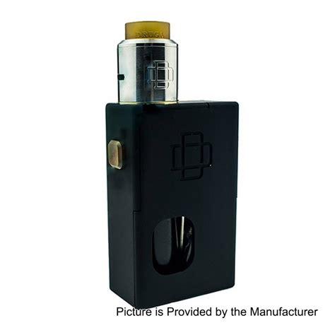 authentic augvape druga black 5ml squonk box mod 22mm rda kit