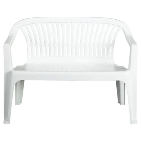 white plastic bench buy plastic garden bench white from our garden benches