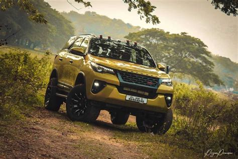 modified toyota fortuner  called  yellow ghost