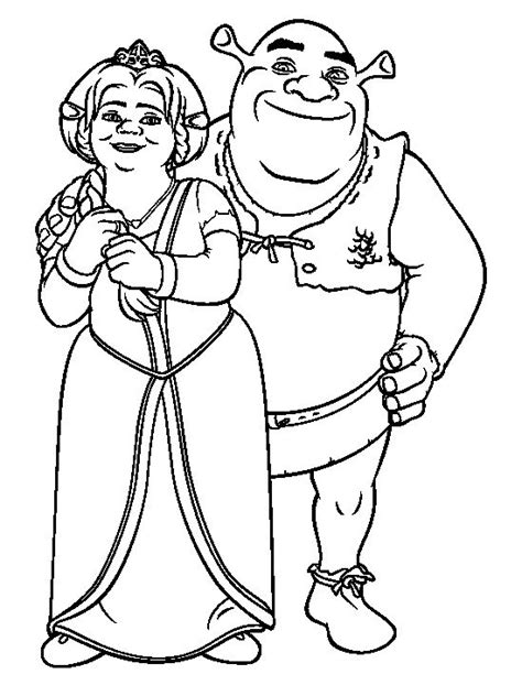 1000 Images About Shrek Coloring Pages On Pinterest Princess Fiona Coloring Page Printable