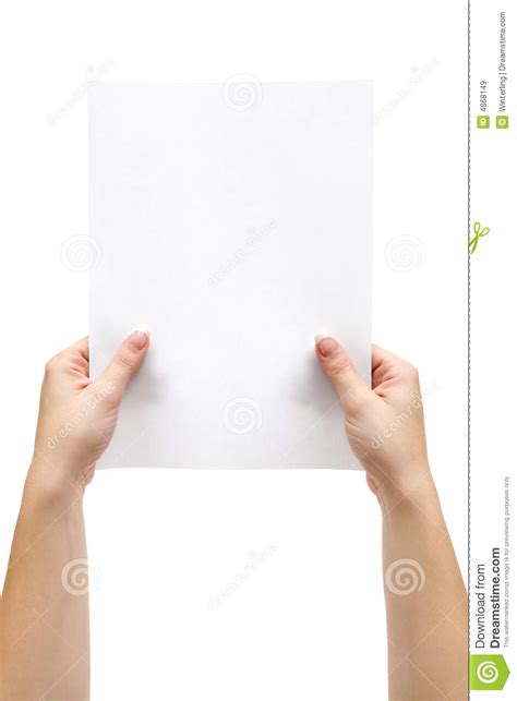 How To Make Paper Holding - holding a sheet of paper stock image image of