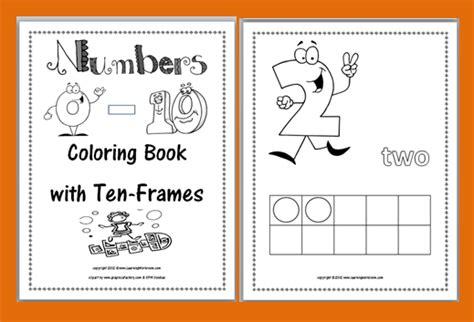 printable numbers booklet classroom freebies math freebie ten frames coloring booklet