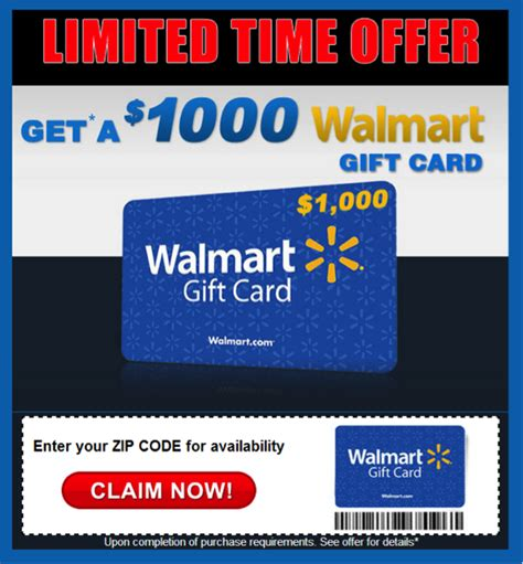 Walmart Survey 1000 Gift Card - winning this 1000 gift card will cost you time money truth in advertising