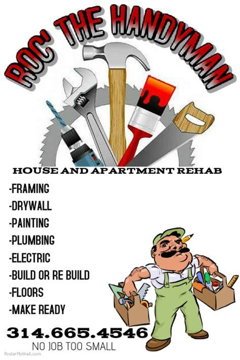 Handyman Flyer Template Postermywall Handyman Advertising Templates