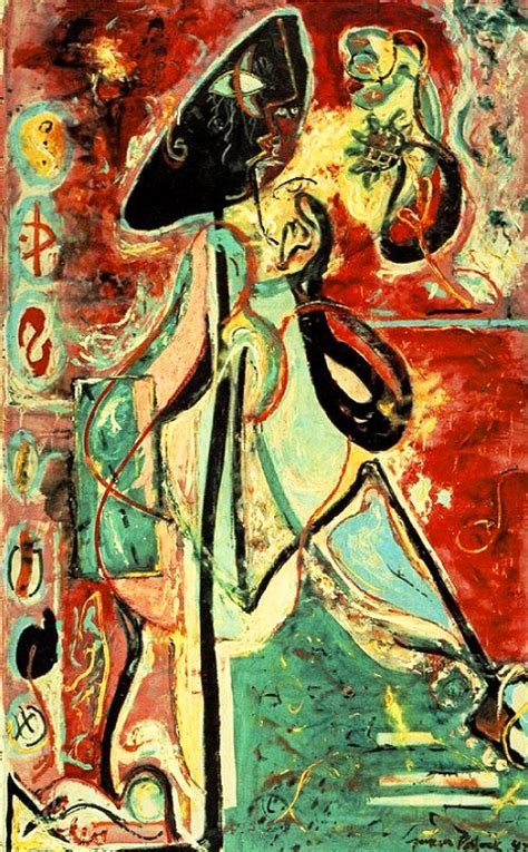 moon woman 1942 by jackson pollock