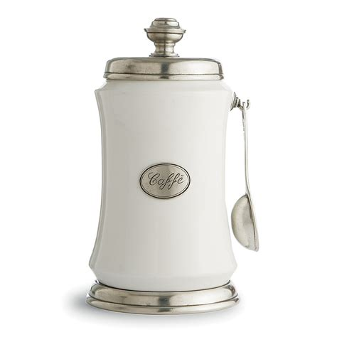White Kitchen Canister arte italica quot festivo quot coffee canister w spoon
