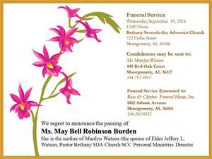 free funeral announcement templates south central conference website funeral announcements