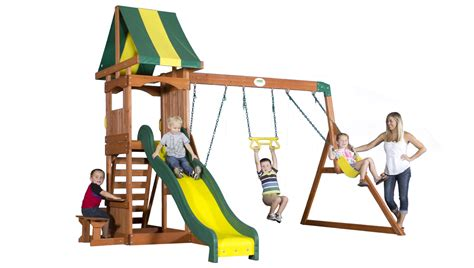 backyard discovery weston cedar set weston all cedar swingset