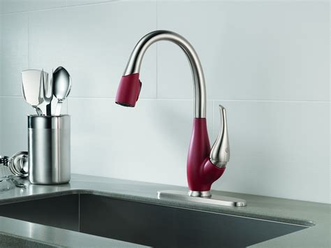 designer faucets kitchen delta faucet company brings faucets with varied