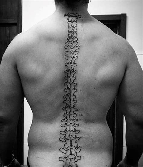 picture tattoos for men spine outline creativefan