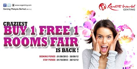 genting room promotion 48 smart genting malaysia buy 1 free 1 room fair