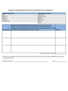 employee expense reimbursement form template expense reimbursement form 5 free templates in pdf word